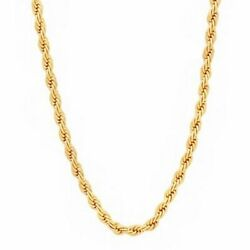 Sg-r3 French Rope Polymer Protected 18k Gold Plated Necklace Men Gift 18 2224