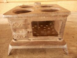 Cook Stove Wood Antique Salesman Sample Doll House Toy Very Poor Salvage 3.5 Ta