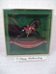 Hallmark 1982 Rocking Horse 2nd In A Series Ornament Bnt