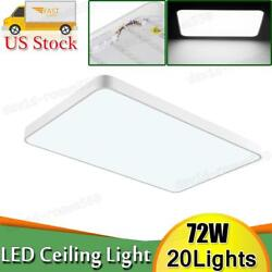 20x 72w Led Ceiling Light Ultra Thin Flush Mount Kitchen Home Fixture Cool White