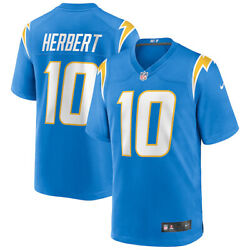 New 2021 Nfl Justin Herbert Los Angeles Chargers Nike Game Player Replica Jersey