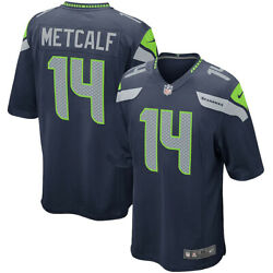 New 2021 Nfl Seattle Seahawks Dk Metcalf Nike Game Player Replica Jersey Nwt 14