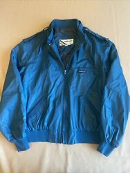 Members Only Jacket Off Blue Size 15/16 1980s Iconic Racer Vintage Rainbow