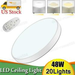 20pcs 48w Led Ceiling Light Thin Flush Mount Kitchen Round Home Fixture Dimmable