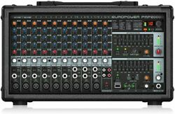 Behringer Mixer Pmp2000d Microphone Preamp With Ultralight Fx Ulm Wireless New