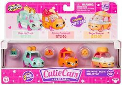 Shopkins Cutie Cars Die-cast Qt2-3 Pack 35-37 Breakfast Beeps Collectionnew
