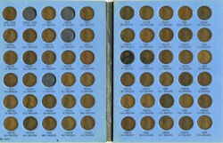 Lincoln Cent Collection 1909-1964 In Whitman Albums Missing Only 5 Coins