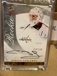 2008-09 The Cup Rookie Auto 77 Simeon Varlamov Auto And039d 114/199