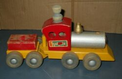 Vintage Wood Wooden Early Holgate Train Set Pull Toy