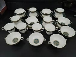 8 Royal Doulton Carlyle Fine China Soup Bowls Saucers And Tea Cups 5018