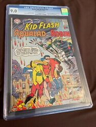 Brave And The Bold 54 Cgc 9.0 Owwp Origin And 1st Teen Titans Robin + Kid Flash