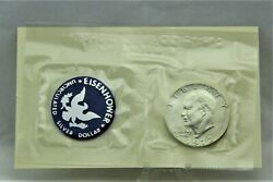 1972 S Uncirculated Eisenhower Ike 40 Silver Dollar Proof 100 Authentic