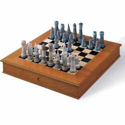 Lladro Medieval Chess Set 01006333 - New And Sealed / Rrp - Andpound2700