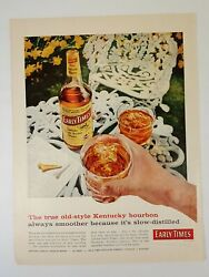 Vintage Life Magazine Color Ad 1958 Early Times Kentucky Bourbon Whisky Golf