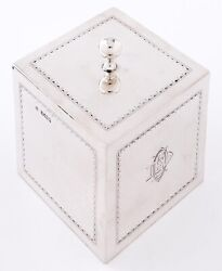 Edward Vii Solid Silver Tea Caddy - Sheffield - 1903 By William Huttons And Sons