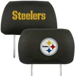 Pittsburgh Steelers 2-pack Auto Car Truck Embroidered Headrest Covers