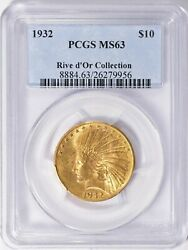 1932 10 Indian Gold Eagle Coin Pcgs Ms63 Rive Dand039or Collection