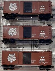 Micro Trains N Scale Box Cars 3 Pack New York, New Haven, And Hartford,20029
