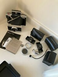Vintage Polaroid 195 Camera With Accessories, Cases And Film