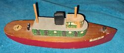 Robin Toys Wood Toy Boat 10 Long C.1950s