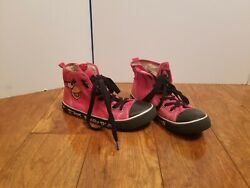 Angry Birds Red Hi-top Canvas Sneakers 3 Youth Shoes Lace Up Zip Black White