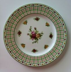 Royal Albert Old Country Roses Casual Plaid 9 Salad Plate S