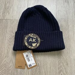 A.p.c. X Knit Beanie Navy 2014 Nwt Rare Vintage Sold Out Yeezy Mens West