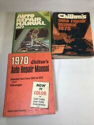 Lot Of 3 Chilton's Auto Repair Manuals American Cars, Vintage 1970 1973 1977