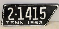Vintage 1963 Tennessee Motorcycle License Plate - Sullivan County Repainted