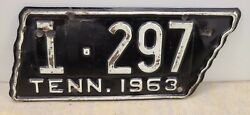 Vintage 1963 Tennessee Motorcycle License Plate - Davidson County Original Paint