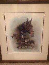 John Henry/ Bill Shoemaker Up Picture Signed By Fred Stone And Bill Shoemaker