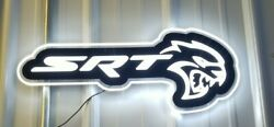 Dodge Hellcat Srt Led Lighted Sign 23 Inches Long Rare Made In Usa