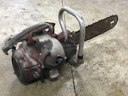 """Vintage Mall Gasoline Chainsaw Chain Saw Model 12a With 17"""" Bar Logging"""