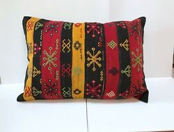 Turkish Kilim Pillow Cover Throw Pillow Made Of Vintage Handwoven Rug 26x37
