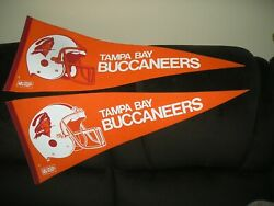 Vintage 1980s Nfl Tampa Bay Buccaneers Pennant Full-size Lot Of 4