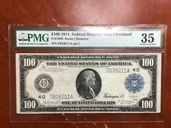Pmg 35 1914 Fr1098 100 Federal Reserve Note Very Pleasing And Desirable