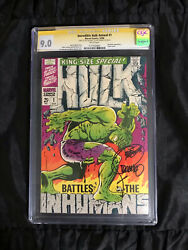 Marvel Comics Incredible Hulk Annual 1 Cgc 9.0 White Pages Jim Steranko Signed