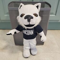 Uconn Connecticut Husky Music Fight Song Playing 16 Plush - Read -watch Video