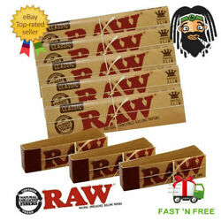 Raw Classic Rolling Papers King Size Slim 110mm With Roach Filter Tips Rizla Kit