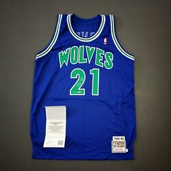 100 Authentic Kevin Garnett Mitchell Ness 95 96 Signed Jersey Uda Limited