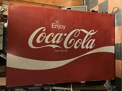 Vintage Large Coca-cola Metal Sign Local Pickup Only