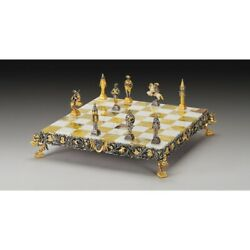 Gulliver And Lilliputians Ii Luxurious Chess Set From Bronze Finished Using Rea