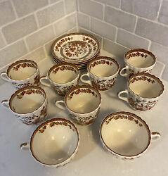 Vtg Copeland Spode India Tree, Oversized Cups, Tea Cups And Saucers Mixed Sizes