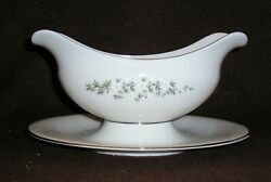 Lenox Brookdale H500 Gravy Boat W/attached Underplate - Discontinued