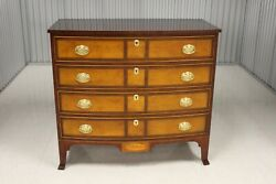 Henkel - Harris Federal Style Mahogany Inlaid Bow Front Chest 2410