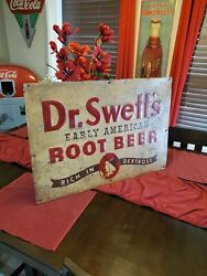 Dr Swetts Rootbeer Advertising Sign Rare Pre 1960s