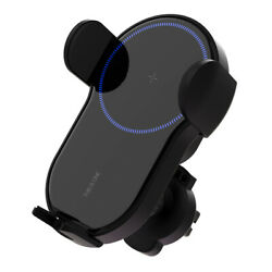 15w Auto Self Aligning Wireless Fast Charge Cell Phone Holder Support In Car