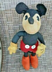 Steiff Mickey Mouse Disney Doll Toy Rare Pie-eyed Closed Mouth 1931 Version 12