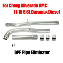 For Chevy Silverado Gmc 11-15 6.6l Duramax Diesel 4 Replacement Exhaust Pipe