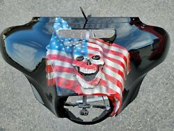 Batwing Front Outer With 3d Skull And Flag Harley Street Glide Flhxs 2014-2021